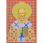 Ткань для вышивания бисером А6 КМИ-6357 «Св. Григорий» 7*10 см