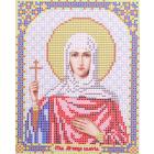Ткань для вышивания бисером Благовест И-5136 Св. мученица Валерия 13,5*17 см