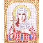 Ткань для вышивания бисером Благовест И-5115 Св.Мученица Лариса 13,5*17 см