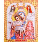 Ткань для вышивания бисером Благовест И-5005 Пр. Богородица Достойно есть 13,5*17 см