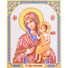 Ткань для вышивания бисером Благовест И-5071 Пр. Богородица Воспитание 13,5*17см