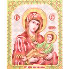Ткань для вышивания бисером Благовест И-5081 Пр. Богородица Муромская 13,5*17см
