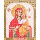 Ткань для вышивания бисером Благовест И-5049 Пр. Богородица Смоленская 13,5*17см