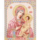 Ткань для вышивания бисером Благовест И-5074 Пр. Богородица Тихвинская 13,5*17см