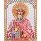 Ткань для вышивания бисером Благовест И-5204 Святой Князь Владимир 13,5*17 см