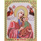 Ткань для вышивания бисером Благовест И-5078 Пр. Богородица Страстная 13,5*17см