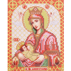 Ткань для вышивания бисером Благовест И-5076 Пр. Богородица Млекопитательница 13,5*17см