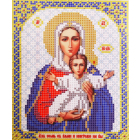 Ткань для вышивания бисером Благовест И-5019 Богородица Леушинская 13,5*17см