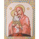 Ткань для вышивания бисером Благовест И-5031 Пр. Богородица Почаевская 13,5*17см