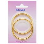 Кольцо разъемное 816-011 40*4,0 мм упак 2шт блистер НР 715230 золото