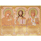 Ткань для вышивания бисером Благовест И-4092 Триптих в золоте 20*25 см