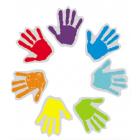 Набор цветных наклеек «Ладошки» ассорти 694687