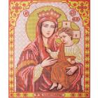 Ткань для вышивания бисером Благовест И-4059 Пресв. Бог. Избавительница 20*25 см