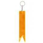 Брелок флажок двусторонний 559673 3*15 см белый/оранжевый
