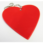 Световозвращающий значок (подвеска)  581826 «Сердце» красный  50 мм