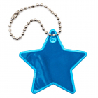 Световозвращающий значок (подвеска)  541800 «Звездочка» голубой  55 мм