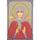Ткань для вышивания бисером А5 КМИ-5337 «Св. Мчц. Лидия» 10*18 см