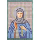 Ткань для вышивания бисером А5 КМИ-5340 «Св. Пр. Ангелина» 10*18 см