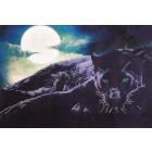 Ткань для вышивания бисером А3 КМЧ-3359 «Пантера» 25*37 см