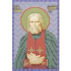 Ткань для вышивания бисером А5 КМИ-5391 «Св. Серафим Саровский» 10*18 см