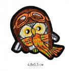 Термоаппликация TBY-2208 «Сова в шапке» 121438 5*7 см коричневый