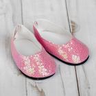 Обувь для игрушек (Туфли) 4258945 «Блестки-кругляши» 7,0 см розовый (пара)