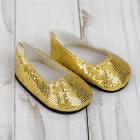 Обувь для игрушек (Туфли) 4258946 «Блестки-кругляши» 7,0 см золотой (пара)