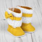 Обувь для игрушек (Сапожки) 4258977 «Бантик» 7 см желтый