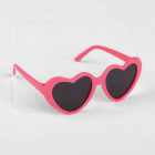 Очки со стеклом 4259004 «Сердечки» пластик 8 см розовый