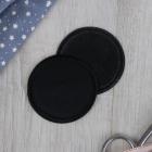 Термоаппликация 4327344 «Круг» черный 6,3 см