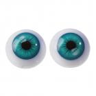 Глаза винтовые 4380012 2,2 см бирюзовый