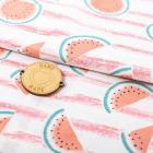 Ткань 50*105 см 4404271 «Арбузики» белый/розовый