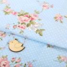 Ткань 50*85 см 4404276 «Цветочное настроение» голубой