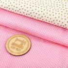 Ткань 65*75 см 4404281 «Радость»  молочный/розовый