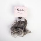 Волосы для кукол (трессы) Прямые 4692552 длина 25 см ширина 150 см пепельный + бантик