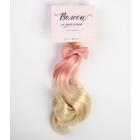 Волосы для кукол (трессы) Прямые 4692561 длина 25 см ширина 150 см розовый/белый + бантик