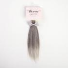 Волосы для кукол (трессы) Прямые 4692563 длина 25 см ширина 150 см пепельный/серый + бантик