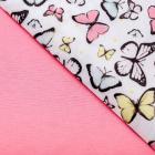 Ткань 50*50 см н-р 4738248 «Весна» розовый/белый