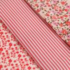 Ткань 50*50 см н-р 5372538 «Цветы» белый/красный
