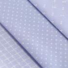 Ткань 50*50 см н-р 5372540 «Нежность» голубой