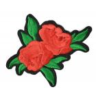 Термоаппликация TBY.2196 Красная роза 136903 6,5*8 см красный