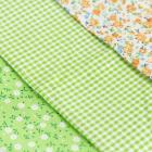 Ткань 50*50 см н-р 5372545 «Весенний лужок» белый/зеленый/желтый