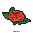 Термоаппликация TBY.2197 Красная роза 136905 5,3*7,5 см красный