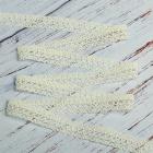 Тесьма вязаная 12 мм 60045 хлопок 61095 (рул. 25 м) 003 белый