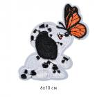 Термоаппликация TBY-2191 Щенок с бабочкой 121287 6*10 см белый
