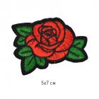 Термоаппликация TBY-2170 Роза 5*7 см красный