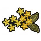 Термоаппликация TBY-2173 Цветы 10*7 см желтый