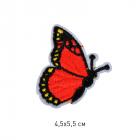 Термоаппликация TBY-2182 Бабочка  4,5*6,5 см красный