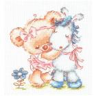 Набор для вышивания Чудесная Игла №17-18 «Я люблю свою лошадку!» 12*13 см