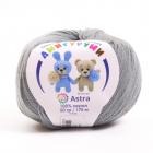 Пряжа Амигуруми (Astra), 50 г / 175 м, 169 серый